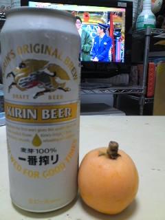 ビールとびわ