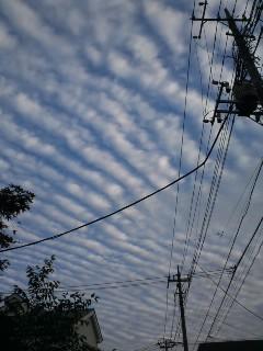 秋空の雲写真