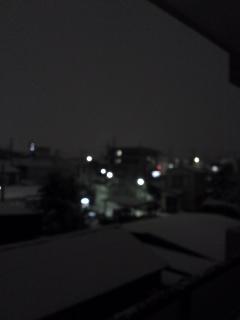 わかりにくい雪の写真